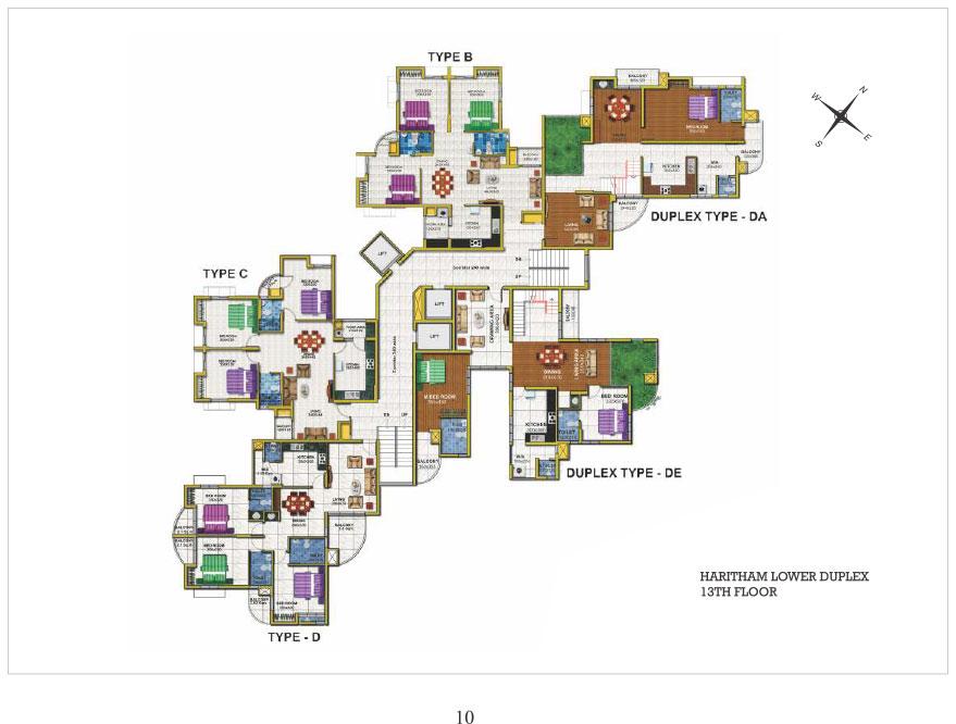 13th floor Lower Duplex