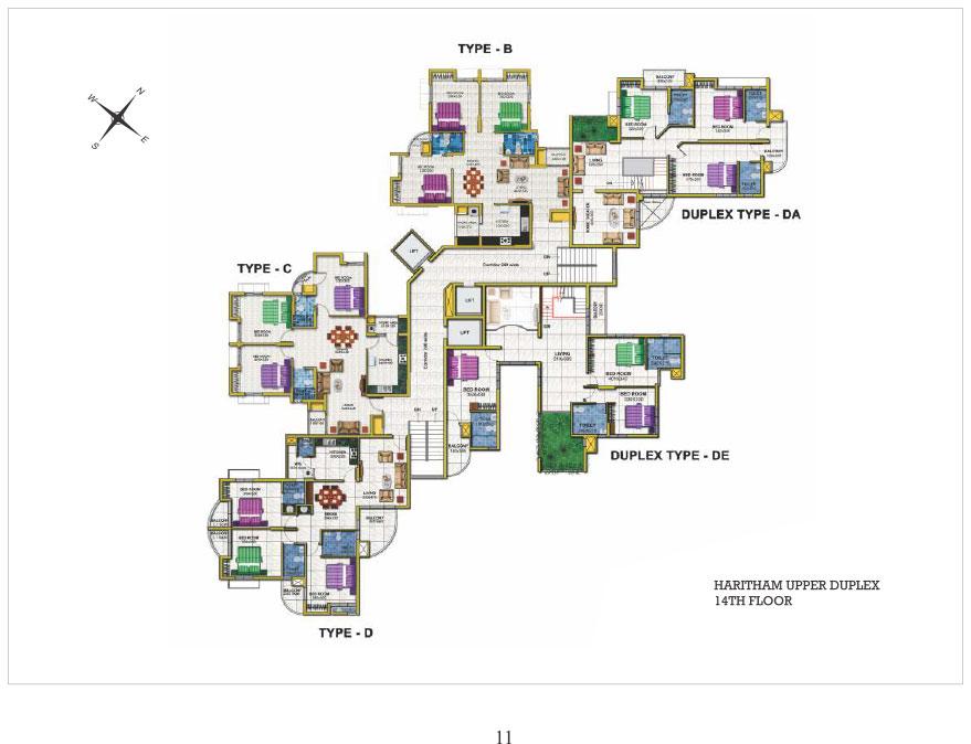 14th floor Upper Duplex