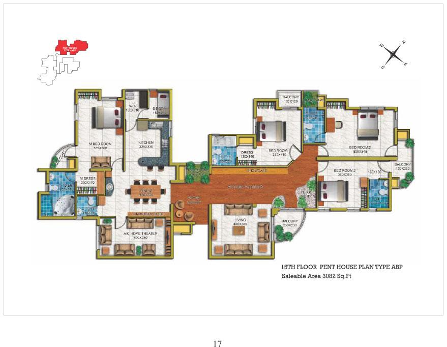 Penthouse 15th floor type ABP