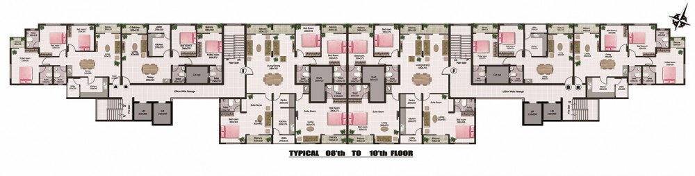 Typical floor plan 8 to 10