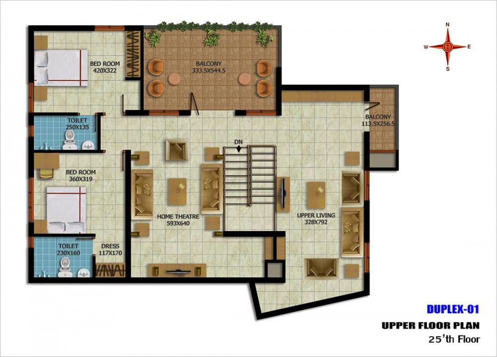Duplex-01upper25thfloor