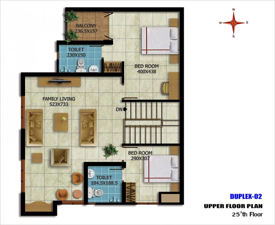 Duplex-02Upper25thfloor