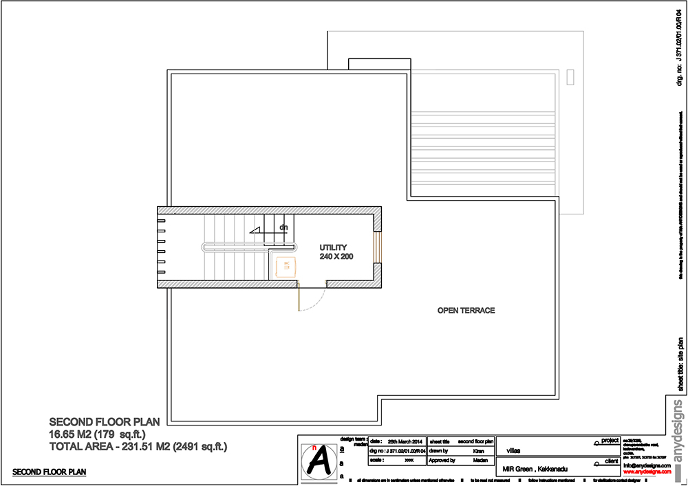 Second floor plan-villa-2